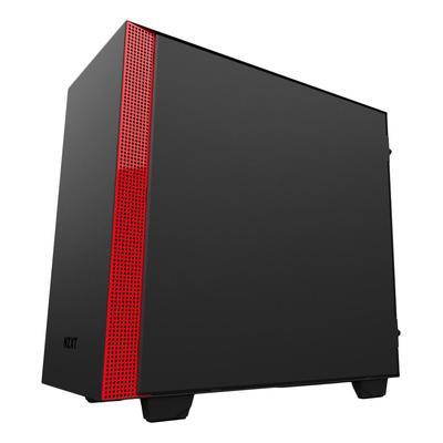 Корпус NZXT CA-H400B-BR H400 M-ATX BLACK/RED (CA-H400B-BR)