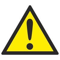 Знак безопасности Внимание. Опасность (прочие опасности) W09 (200х200 мм, пленка ПВХ)