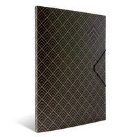 Папка на резинке Комус Art Deco A4 10 мм пластиковая до 150 листов черная (толщина обложки 0.55 мм)