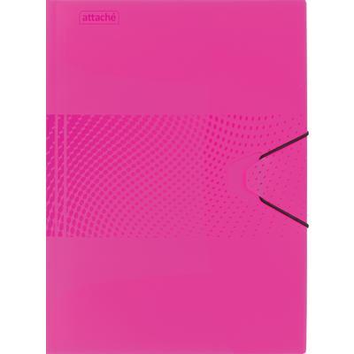 Папка на резинке Attache Digital А4+ 18 мм пластиковая до 200 листов розовая (толщина обложки 0.45 мм)
