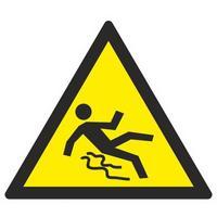 Знак безопасности Осторожно. Скользко W28 (200х200 мм, пленка ПВХ)