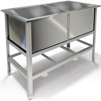 Ванна моечная ВМ-21/600 на две ёмкости (сталь,1340х700х850 мм)