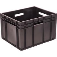 Ящик (лоток) для молока Фин-пак из ПНД 430x345x285 мм черный