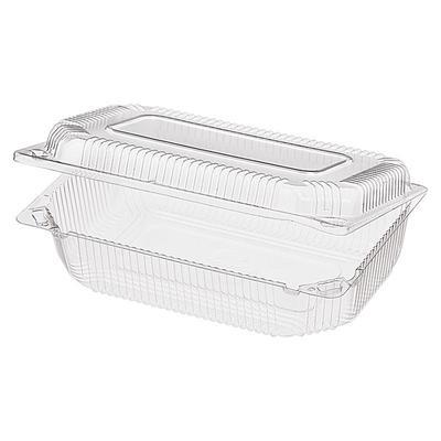 Одноразовый пластиковый контейнер Комус РК-21(Т)(М) для кондитерских  изделий 1600 мл прозрачный (400 штук в коробке)