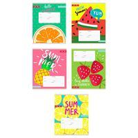 Тетрадь школьная Проф-пресс Яркие фрукты А5 24 листа в клетку (обложка в ассортименте)
