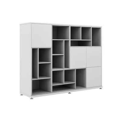 Шкаф средний с ячейками EMP465 (белый, 1800х420х1500 мм)