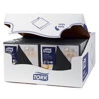 Салфетки бумажные Tork LinStyle Premium 478726 39x39 см черные 1-слойные  50 штук в упаковке