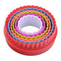 Набор кулинарных форм круглые 6 штук диаметр 5-10 см высота 3.5 см (MS8-84)