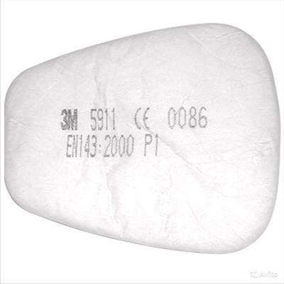 Предфильтр 3М 5911 марка Р1 от аэрозолей (2 штуки в упаковке, артикул производителя 5911)