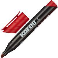Маркер перманентный Kores красный (толщина линии 3-5 мм) скошенный наконечник