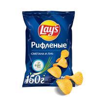 Чипсы картофельные Lay's со вкусом сметаны и лука 150 г