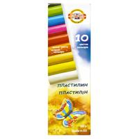 Пластилин классический Koh-I-Noor 10 цветов 200 г (артикул производителя 131710)