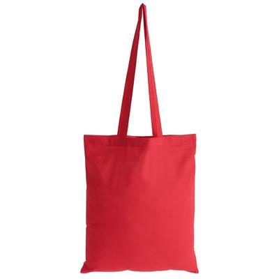 Сумка для покупок хлопок красная (37x1x41 см)