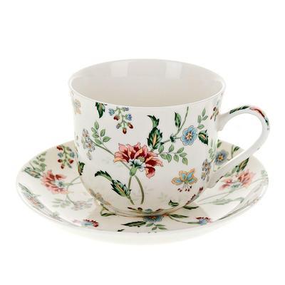 Чайная пара фарфоровая Best Home Porcelain Альпийский сад (чашка 450 мл, блюдце)