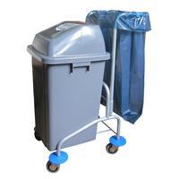 Тележка уборочная для раздельного сбора мусора арт.0497