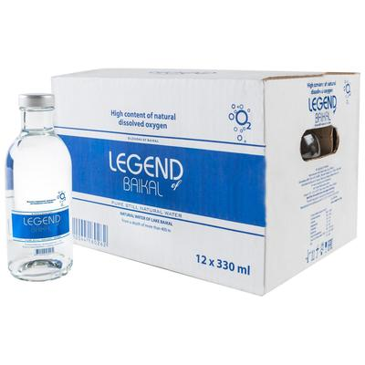 Вода питьевая Legend of Baikal негазированная 0.33 л (12 штук в упаковке)
