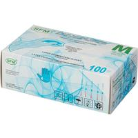 Перчатки одноразовые SFM латексные опудренные белые (размер M, 100 штук/50 пар в упаковке)
