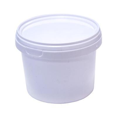 Ведро пластиковое 0.55 л белое с крышкой