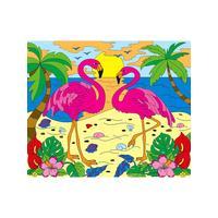 Картина по номерам Рыжий кот Два фламинго у моря