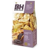 Хлебцы Baker House Итальянские с черным кунжутом, отрубями  и оливковым  маслом 250 г