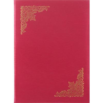 Папка адресная А4 балакрон красная
