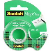 Клейкая лента канцелярская Scotch Magic прозрачная 19 мм х 7.5 м