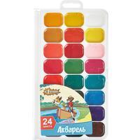 Акварельные краски №1 School Шустрики медовые 24 цвета