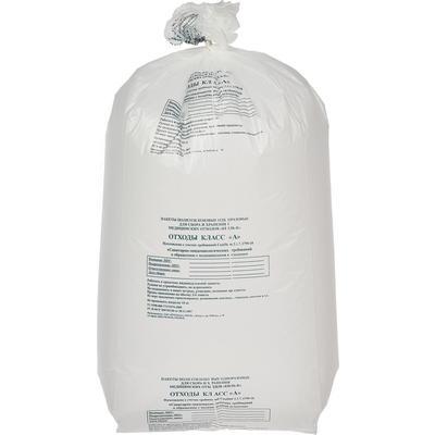 Пакеты для медицинских отходов ПТП Киль класс А 100 л белый 60x100 см 18 мкм (100 штук в упаковке)