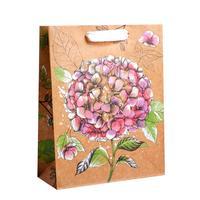 Пакет подарочный из крафт-бумаги Ты прекрасна MS (23x18x8 см, 12 штук в упаковке)