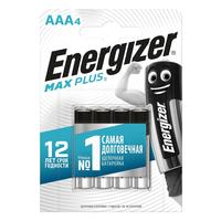 Батарейки Energizer Max Plus мизинчиковые AAA LR03 (4 штуки в упаковке)