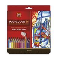 Карандаши цветные Koh-I-Noor Polycolor художественные 36 цветов шестигранные с точилкой
