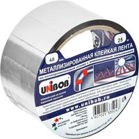 Клейкая лента металлизированная Unibob серая 48 мм x 25 м толщина 50 мкм