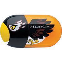 Точилка Faber-Castell Eagle двойная с ластиком и контейнером