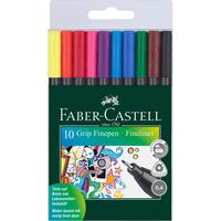 Набор капиллярных ручек Faber-Castell Grip Finepen 10 цветов