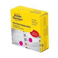 Этикетки-точки Самоклеющиеся Avery Zweckform 19 мм красные 250 штук в упаковке