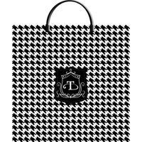 Пакет подарочный полиэтиленовый Шанель (36x37x7 см)