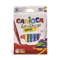 Фломастеры Carioca ColorChange 10 штук, 9 цветов + 1 изменяющий цвет
