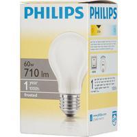 Лампа накаливания Philips 60 Вт E27 грушевидная матовая 2700 К теплый белый свет