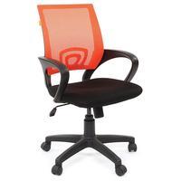 Кресло офисное Chairman 696 оранжевое/черное (сетка/ткань, пластик)