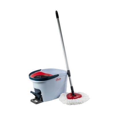 Набор для уборки Vileda Professional УльтраСпин Мини (ведро 10 л с красным отжимом, моп, держатель мопов, телескопическая ручка) (арт. производителя 158011)
