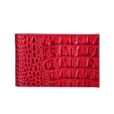 Визитница карманная Fabula на 40 визиток из натуральной кожи красного цвета (V.30.KM)