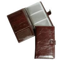 Визитница настольная Grand натуральная кожа на 72 визитки коричневая (115x185 мм)