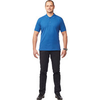 Рубашка Поло (190 г), короткий рукав, васильковый (M)