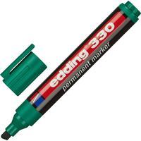 Маркер перманентный Edding E-330/4 зеленый (толщина линии 1-5 мм) скошенный наконечник