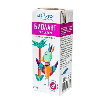 Биолакт детский ВкусВилл 3.2% 210 г (12 штук в упаковке)