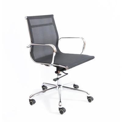 Уценка. Кресло офисное Кайман Н CK-11 черное (ткань/сетка/металл). уц_меб