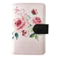 Визитница карманная InFolio Belle на 24 визитки из искусственной кожи розовая
