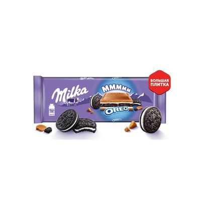 Шоколад Milka молочный с начинкой со вкусом ванили и печенья Oreo 300 г