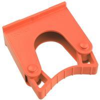 Зажим  для щеток и рукояток Hillbrush Hold 1 R пластик красный (диаметр 20-30 мм)