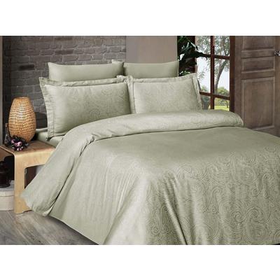 Постельное белье DO&CO Lavendar зеленое (2-спальное с европростыней, 2 наволочки 50x70 см, 2 наволочки 70x70 см, сатин-жаккард)